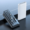 C85 10000mah Built-in 4 data cable power bank