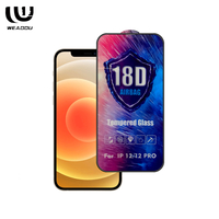 WeAddU 2021 18D Tempered Glass Film Screen Protector Guard For iPhone 12 pro 12pro max