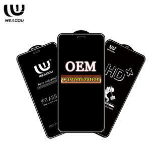 Customize diy Brand Logo Tempered glass screen protector