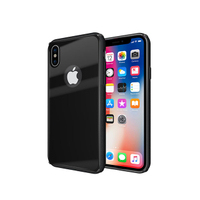 TPU Clear Tempered Glass Luxury Cell Phone Case for iPhone X