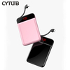 C51 dropship ultra small slim thin battery charger powered power bank gift usb 10000mah solar charger power bank