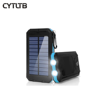S8 8000mah led lamp solar power bank multifuction premium solar battery charger powerbank phone