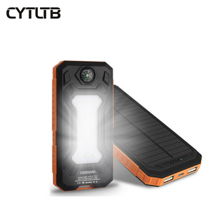 S9 8000mah/10000mah waterproof solar battery power bank led solar mobile phone power bank diy kit