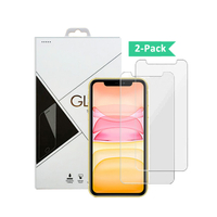 2 pack 0.33mm 9H 2.5D glass For iPhone11 pro max screen protector tempered glass 2 pack